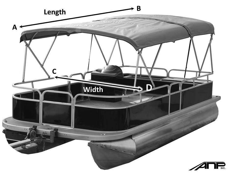 How to measure for a double pontoon bimini top  sc 1 st  ANP inc & How to measure - ANP inc.