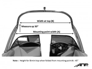 How to measure for a tower bimini top